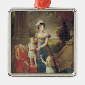 Marie-Caroline de Bourbon  with her Children Metal Ornament