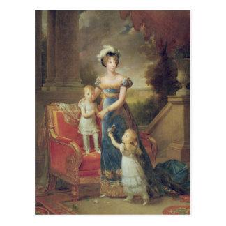 Marie-Caroline de Bourbon  with her Children Postcard