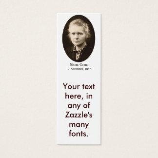 Marie-Curie Bookmark (biz card) Mini Business Card