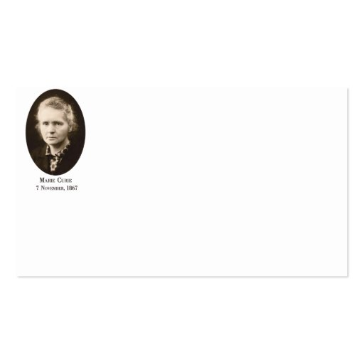 Marie-Curie Business Cards