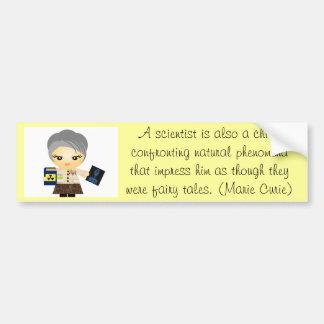 Marie Curie Etiqueta De Parachoque