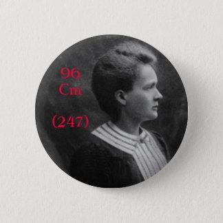 Marie Curie Curium Pinback Button