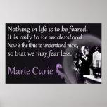 Marie Curie el | entendido, poster no temido