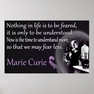 Marie Curie el   entendido, poster no temido Póster