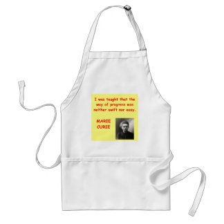 Marie Curie quote Apron