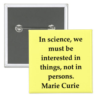 marie curie quote buttons