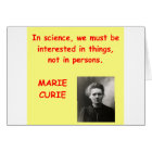 Marie Curie quote Card