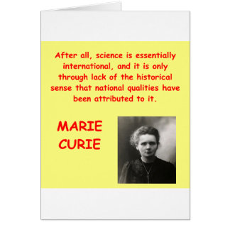 Marie Curie quote Cards