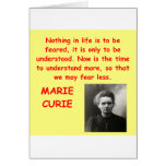 Marie Curie quote Greeting Card