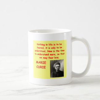 Marie Curie quote Coffee Mugs