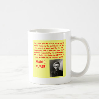 Marie Curie quote Mug