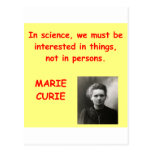 Marie Curie quote Post Card