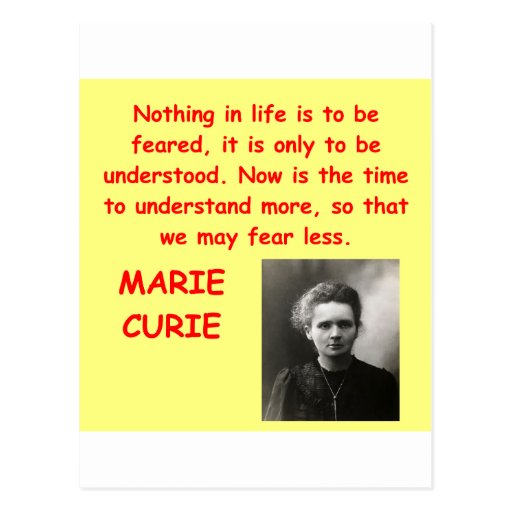 Marie Curie quote Postcard