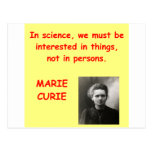 Marie Curie quote Postcards