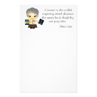 Marie Curie Stationery