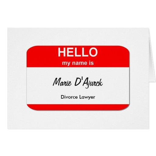 Marie D'Ajurck, abogado de divorcio Felicitaciones