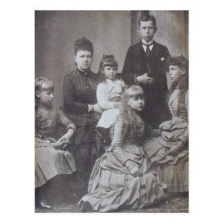 MARIE de EDIMBURGO con los niños #119 Tarjetas Postales