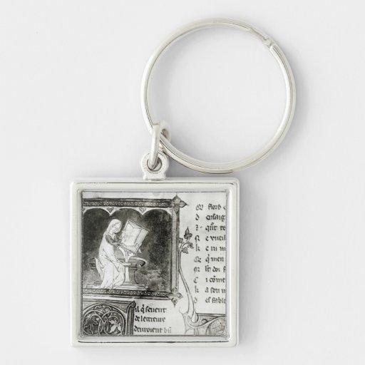 Marie de France  writing Keychains