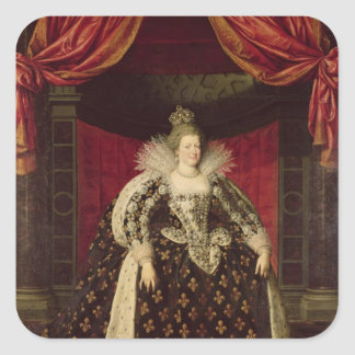 Marie de Medici en los trajes de la coronación, Pegatina Cuadrada