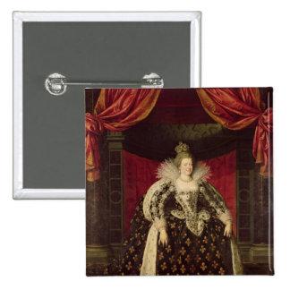 Marie de Medici  in Coronation Robes, c.1610 2 Inch Square Button