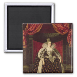 Marie de Medici  in Coronation Robes, c.1610 2 Inch Square Magnet