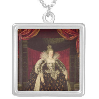 Marie de Medici  in Coronation Robes, c.1610 Silver Plated Necklace
