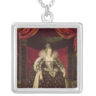 Marie de Medici  in Coronation Robes, c.1610 Square Pendant Necklace