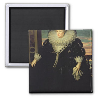 Marie de Medici  Queen of France, 1617 2 Inch Square Magnet