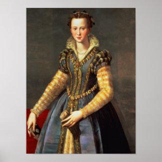 Marie de Medici , wife of Henri IV of France Print