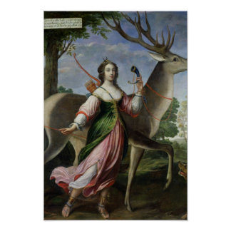 Marie de Rohan-Montbazon  Duchess of Chevreuse Poster