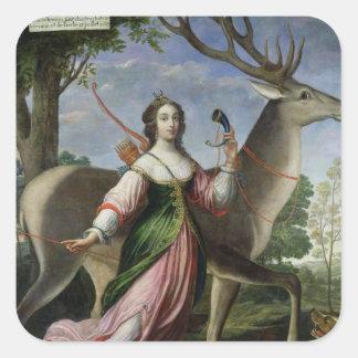 Marie de Rohan-Montbazon Duquesa de Chevreuse Pegatina Cuadrada
