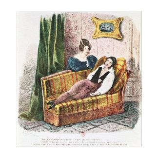Marie Dorval en el papel del d'Hervey de Adela Impresion En Lona