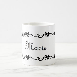 Marie Floral Name Coffee Mug