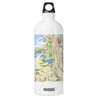 Marie Galante Beach Aluminum Water Bottle