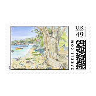Marie Galante Beach Postage Stamps