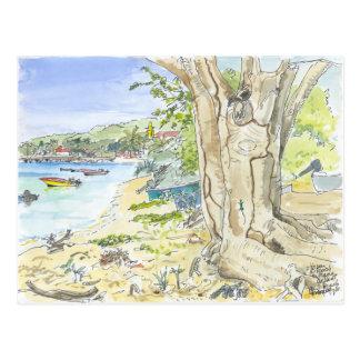 Marie Galante Beach Postcard