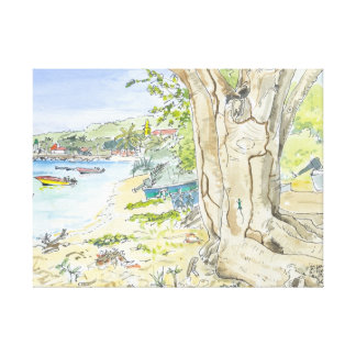 Marie Galante Beach Stretched Canvas Gallery Wrapped Canvas