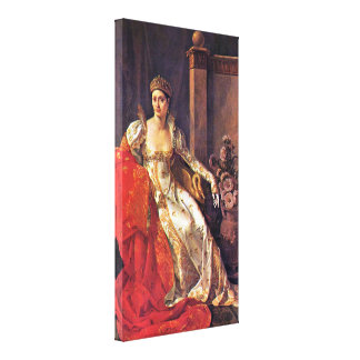 Marie-Guillemine Benoist - Duchess of Tuscany Stretched Canvas Print