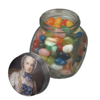 Marie Josephe of Saxony by Maurice Quentin Tour Glass Candy Jars