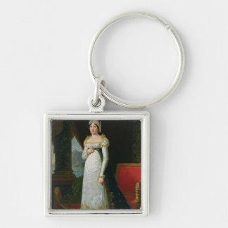 Marie-Laetitia Ramolino  1813 Silver-Colored Square Keychain