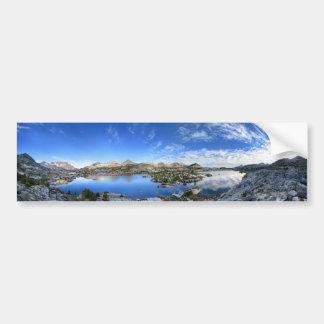 Marie Lake Morning Panorama - John Muir Trail Bumper Sticker