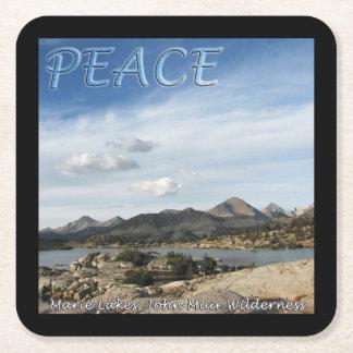Marie Lakes Peace Coaster Square Paper Coaster