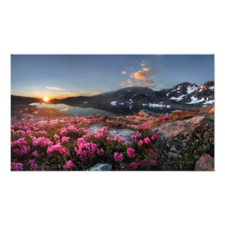 Marie Lakes Sunrise 2 - John Muir Trail - Sierra Photo Print