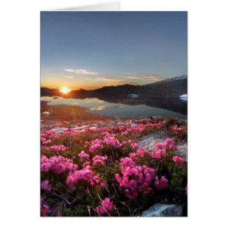Marie Lakes Sunrise - John Muir Trail - Ansel Adam Card