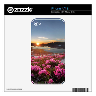 Marie Lakes Sunrise - John Muir Trail - Ansel Adam Decal For The iPhone 4