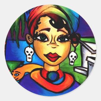 Marie Laveau Classic Round Sticker