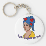 Marie Laveau I Put a Spell On You Basic Round Button Keychain