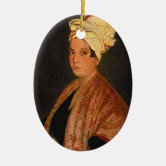 Marie Laveau: La reina del vudú Adorno Ovalado De Cerámica