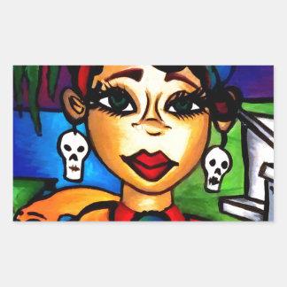 Marie Laveau Rectangular Sticker