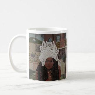 Marie Laveau, reina del vudú de New Orleans Taza Básica Blanca